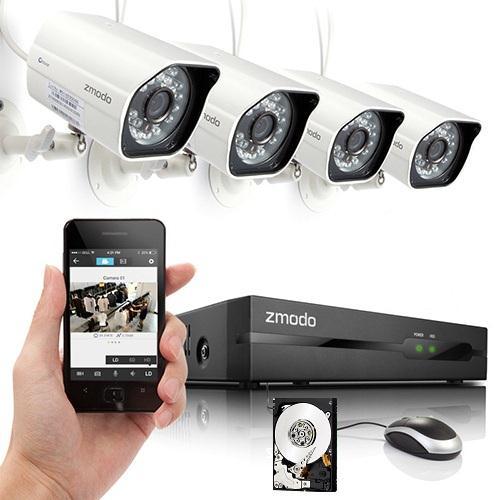 zmodo ip kamera set nvr 4 ip kamera 1tb hdd 720p poe. Black Bedroom Furniture Sets. Home Design Ideas